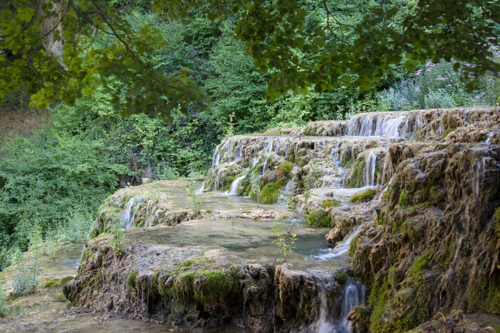 Waterfall in Orbaneja del Castillo; Burgos; Spain